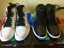 Nike SB Jordan 1 Lance Mountain Sz 10 DS 2 Pairs Set Bred Black White Red Royal