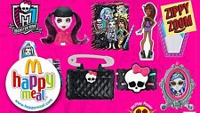 MCDONALDS 2015 MONSTER HIGH SET 8 ITEMS Sealed and Ready to be Shipped!!