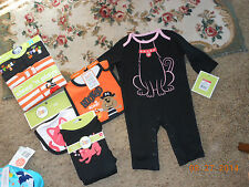 New w/tags  Cute lot of Halloween 3-6 month baby clothes includes 2 Bibs