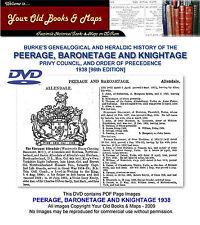 BURKES PEERAGE, BARONETAGE AND KNIGHTAGE 1938 DVD