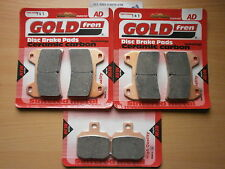 DUCATI 1100 HYPERMOTARD   FRONT & REAR BRAKE PADS (3x Sets) GOLDFREN HH SINTERED