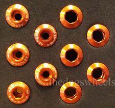 AEROZINE Anodizzati in Lega CHAINRING BOLTS m8 x 5 MTB BICICLETTA BICI Arancione esterno
