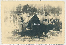 Foto Soldaten in Wintertarn/Wendetarnparka  in Finnland 2.WK (1923)