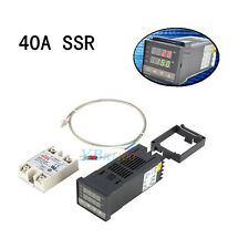 Digital PID Temperature Controller + Max. 40A SSR + K Type Probe Sensor REX-C100