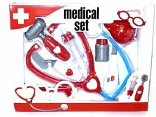 8PC Toy Medical Doctor Nurse Set Great Role Play Activity Game Stocking Filler