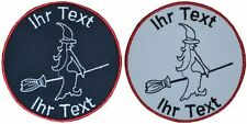 witch patch with your text 10cm embroidered logo (803)