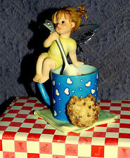 Enesco My Little Kitchen Fairies Figurine; Coffee & Cookie homey morning family