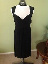 Nola Sz M Above the Knee Romantic Little Black Dress NWT