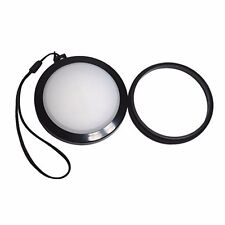 Mennon 55mm White Balance Lens Cap with Filter for Canon Nikon Sony Camera