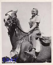 Daphne Campbell busty on horse VINTAGE Photo The Overlanders