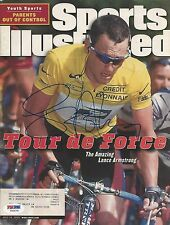 Lance Armstrong Racing Cyclist Signed Magazine - PSA/DNA # Y00079