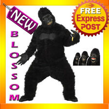 C619 Mens Goin' Ape Gorilla King Kong Halloween Adult Costume+ Ani-motion Mask
