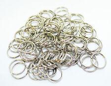 200 Einheiten Nickel Split Ring Schlüsselanhänger 25 mm Durchmesser