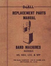 DoAll Parts for Models HS, HSV, LSV & SPF Saw Manual