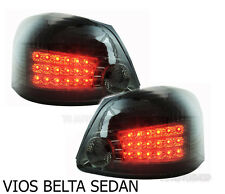 BLACK SMOKE REAR LED TAIL LIGHT LAMP TOYOTA VIOS YARIS BELTA 4DR SEDAN 2008-2012