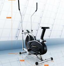 Genki LCD 5 levels Adjustable Elliptical Bike/Cross Trainer With Exercise Mat