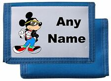 Personalised Mickey Mouse Style Wallet/Purse Black/Blue/Pink/Red Mayzie Designs®
