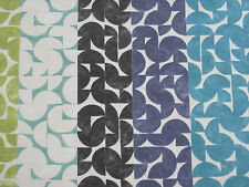 "HARLEQUIN SCION CURTAIN FABRIC DESIGN ""Chic"" 6.5 METRES MARINE/CEMENT/MOSS"