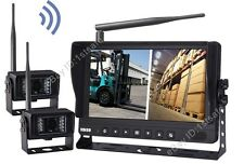 "9"" DIGITAL WIRELESS SPLIT MONITOR REAR VIEW BACKUP CAMERA SYSTEM FOR FORKLIFT"
