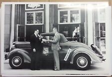 "12 By 18"" Black & White PICTURE 1936 Ford Roadster Great Lakes Expedition"