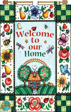 Jeweled Banner Kit ~ Design Works Welcome To Our Home Banner #DW9536