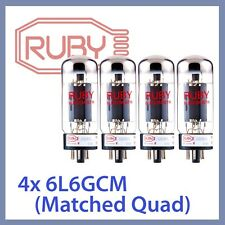 4x NEW Ruby 6L6GC-M-STR 6L6GC 6L6GCM-STR Vacuum Tubes, Matched Quad TESTED