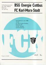 OL 88/89  FC Karl-Marx-Stadt - BSG Energie Cottbus