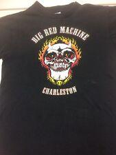 rare HELLS ANGELS CHARLESTON SC Shirt Support 81 Red White Big Machine M HAMC