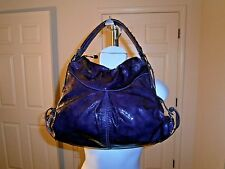 Francesco Biasia Plum Purple Genuine Patent Leather  Hobo Handbag
