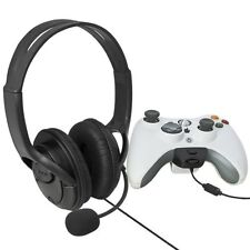 New Big Headset Headphone with Microphone MIC for Xbox 360 Slim Controller Black