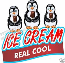 """Ice Cream Real Cool Decal 14"""" Bars Concession Food Truck Cart Vinyl Menu Sticker"""