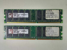 2GB (2 x 1GB) PC3200 DDR 400Mhz DDR1 Memory 184pin Kingston KVR400X64C3A/1G RAM