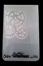 Sizzix MEDIUM Embossing FOLDER MINI Steampunk accoppiamenti Cuttlebug Tim Holtz