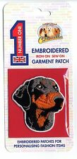 Dobermann - Embroidered Garment Patch - Iron On - Sew On