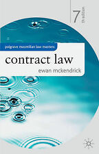 McKendrick, Ewan Contract Law (Palgrave Macmillan Law Masters) Very Good Book