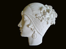 ART DECO WHITE RESIN WALL FACE