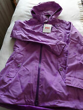 Helly Hansen W Ashbury performance rainwear hooded jacket lilac M new with tags.