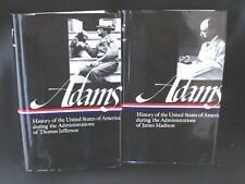 2 Vols Henry Adams History of the United States Library of America HCDJ 1986