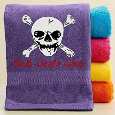 Personalized skull Towel with FREE Embroidery - Skull/Pirate Towel Skull Towel
