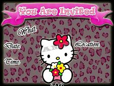 Hello Kitty Party Invitations with matching envelopes, birthday, 12pack