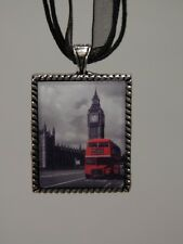 London Bus and Big Ben Necklace