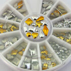 3D Acrylic Metal Nail Art Decoration Rhinestones Studs Cell Phone Accessories