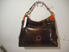 NWT Dooney & Bourke Embossed Snake & Tan Medium Sac in Leather