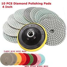 10pcs/set 4 inch Diamond Polishing pads Granite Marble Concrete Stone Wet/Dry