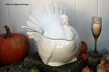 POTTERY BARN TURKEY TUREEN -NIB- ICONIC, NEVER NEEDS CARVING AND READY TO SERVE!