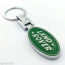 Metal Car double side Logo keyring key chain pendant Key Holder for Land rover