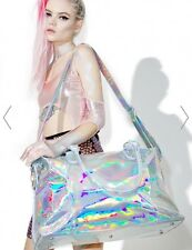 Current Mood HOLOGRAPHIC Prism Weekender Duffle Tote Bag NWT Overnighter Luggage