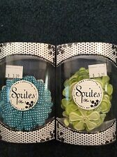 Lot of 2 New Packs of Prima Flowers Sprites Green and Blue 36 each