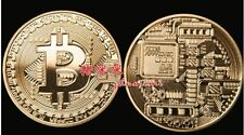 Plated Gold 1oz Bitcoin Casascius BTC 1 Physical Bit Coin