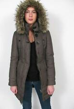 SOIA & KYO ARITZIA GOOSE DOWN PUFFER FAUX RACCOON FUR HOODED JACKET COAT~XXS